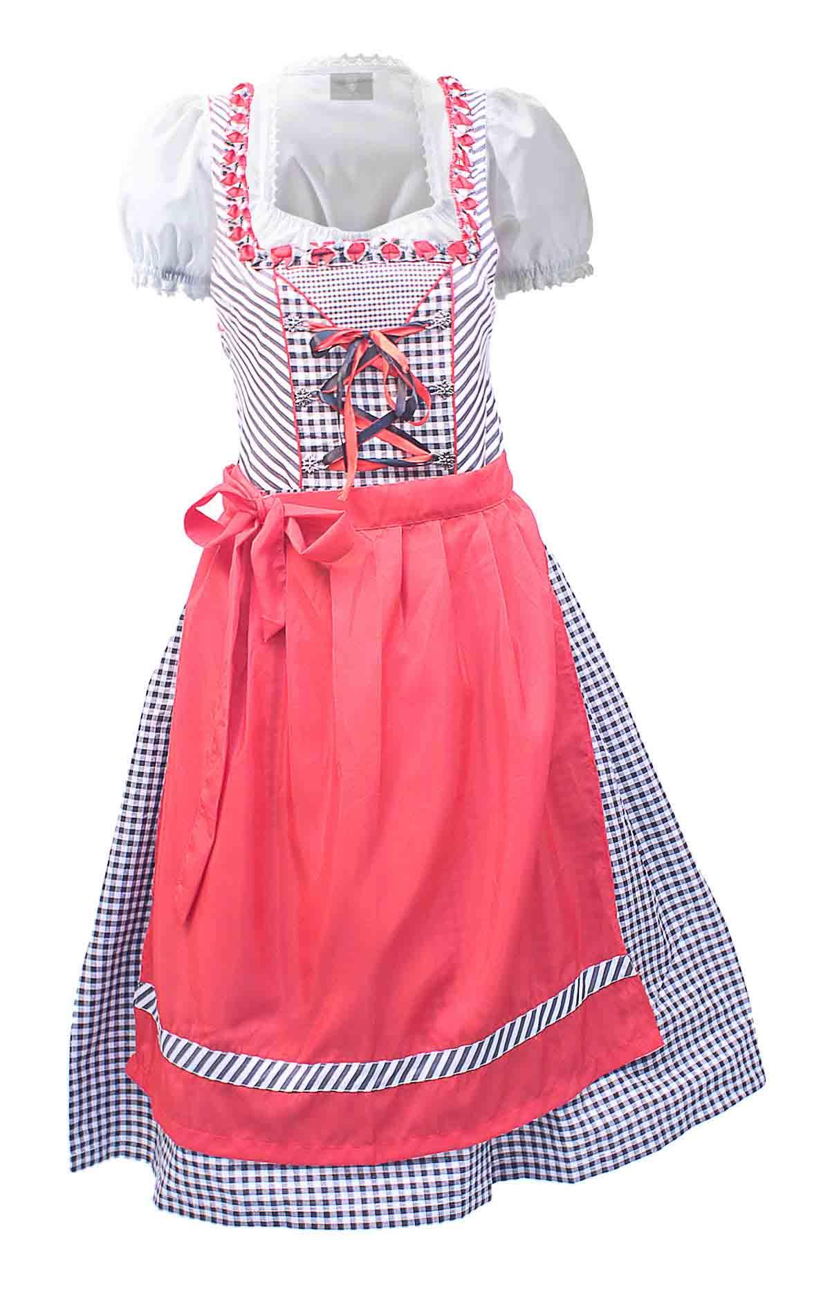 midi checkered dirndl elsa rose pink lederhosen store. Black Bedroom Furniture Sets. Home Design Ideas