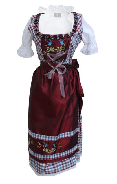 Maroon Dirndl Dress German Oktoberfest