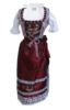 Maroon Dirndl Dress German Oktoberfest