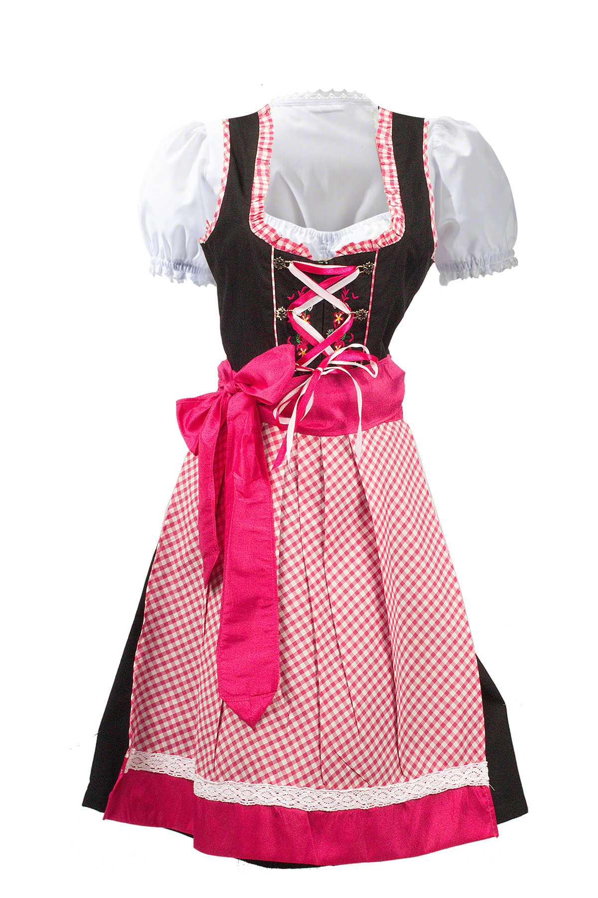 German Dirndl Dress Amara Black Pink Lederhosen Store
