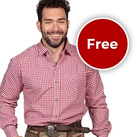 Free Bavarian Shirt with Lederhosen