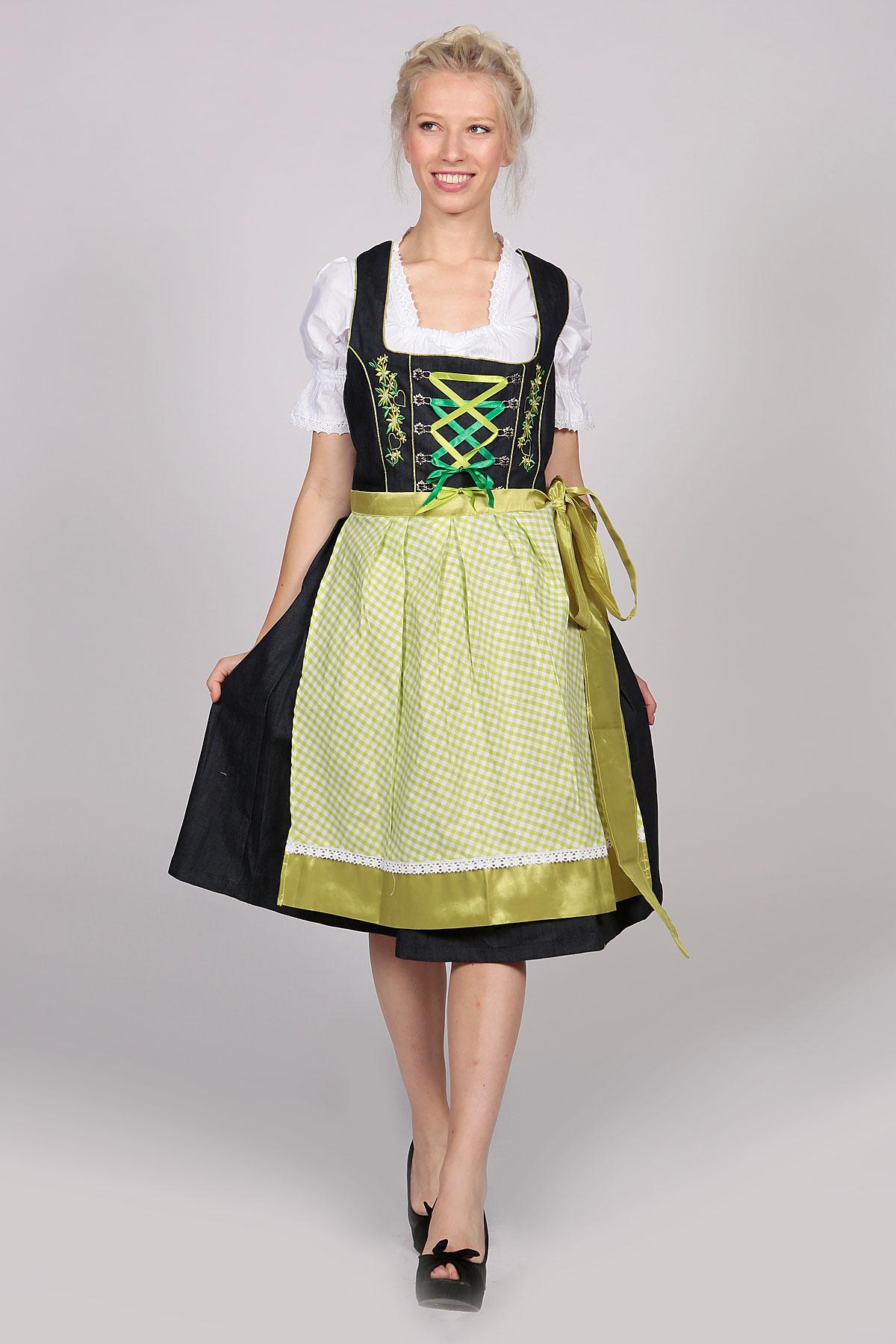 Dirndl german traditional womens dresses lederhosen store german dirndl dress green 2 way flip apron solutioingenieria Image collections