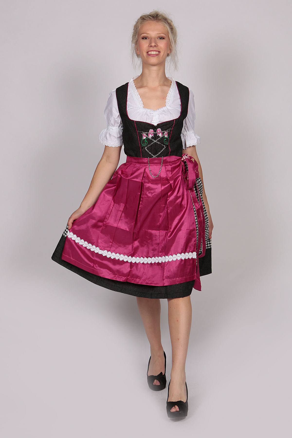 German Womens Dirndl Dress Bruna Wine - Lederhosen Store