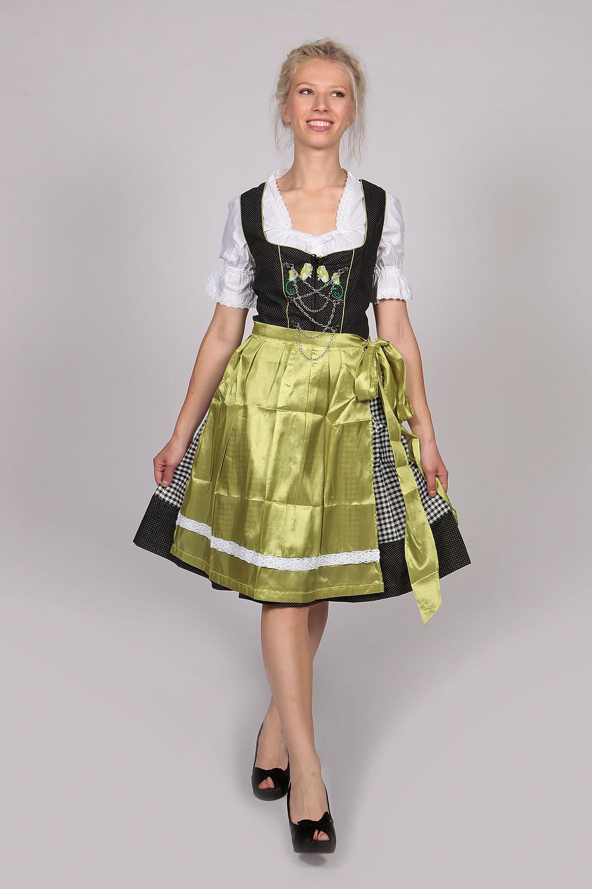 midi dirndl dress helma vintage green lederhosen store. Black Bedroom Furniture Sets. Home Design Ideas