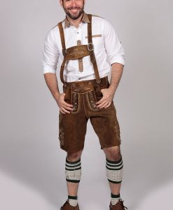M-LED-11-1 - Brown Lederhosen