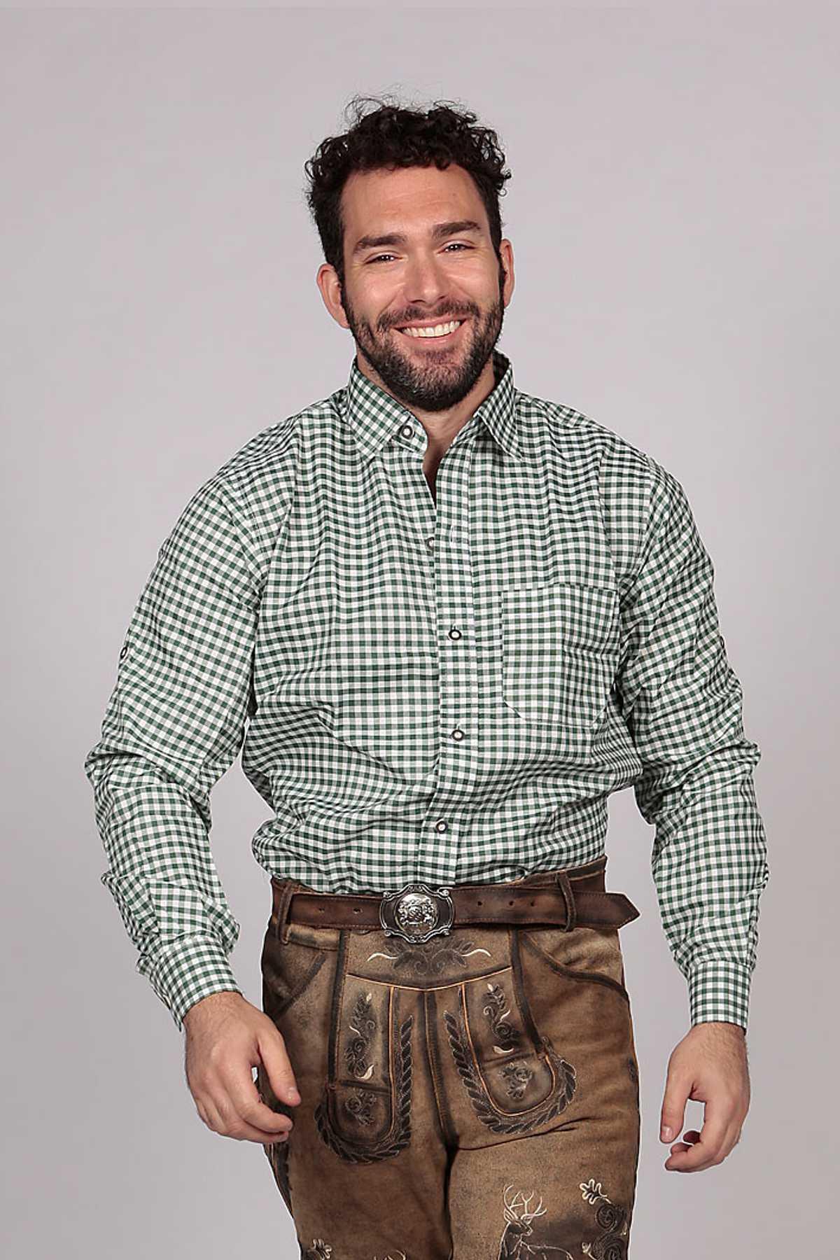 bavarian slim shirt pine green lederhosen store