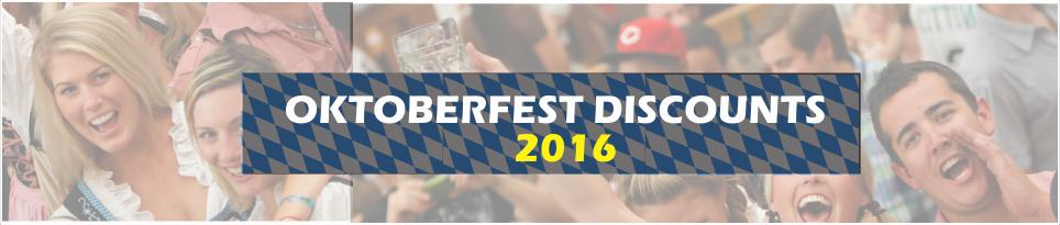 Oktoberfest Discounts 2016