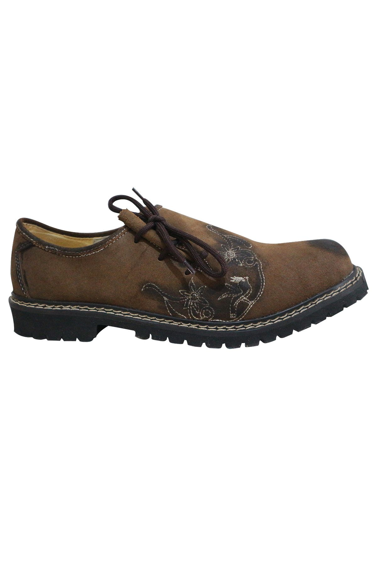 Trachten Lederhosen Shoes for Men Brown