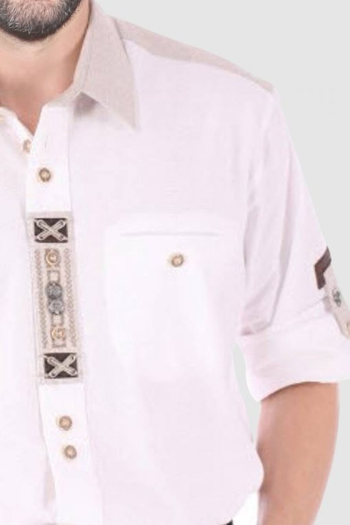SRT-07-new2 Embroidered Bavarian Shirt for Oktoberfest