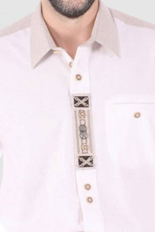 Embroidered Bavarian Shirt for Oktoberfest