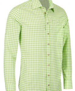 SRT-24 - Bavarian Checkered Shirt German Tracthen Shirt Green