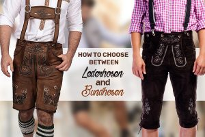 choose between lederhosen and bundhosen