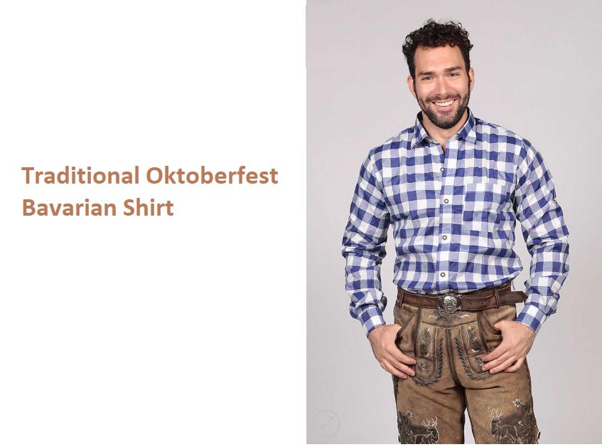 traditional Oktoberfest Bavarian shirt